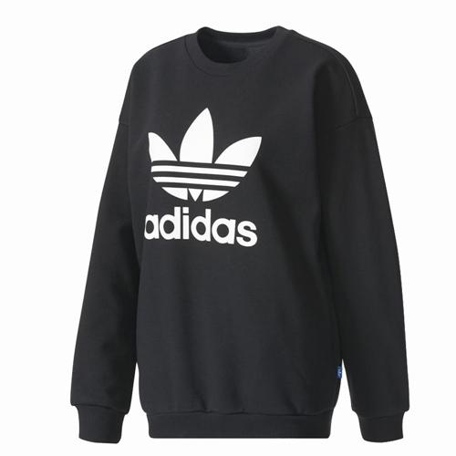 adidas trefoil sweater damen pullover style black schwarz. Black Bedroom Furniture Sets. Home Design Ideas