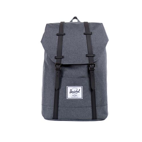 herschel retreat backpack rucksack grey black grau schwarz little america neu ebay. Black Bedroom Furniture Sets. Home Design Ideas