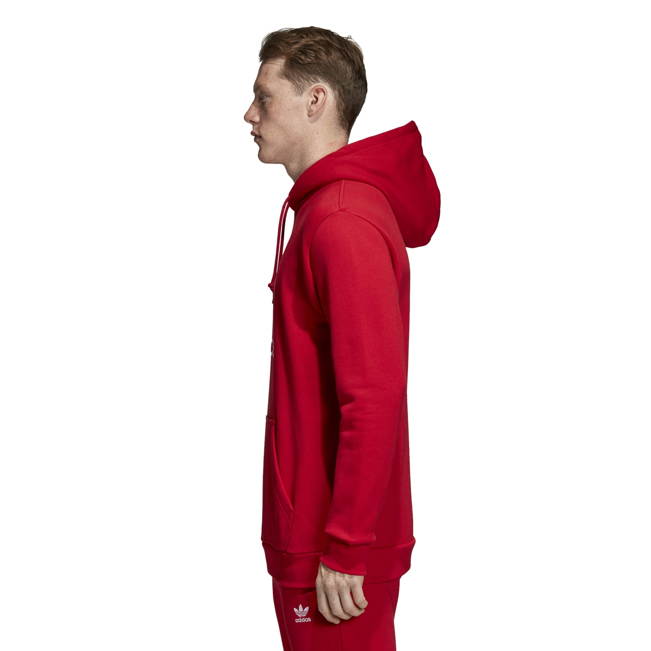 Adidas Trefoil Hooded Sweat Power   Power Sweat Red Hommes Capuche en Rouge ab30fc