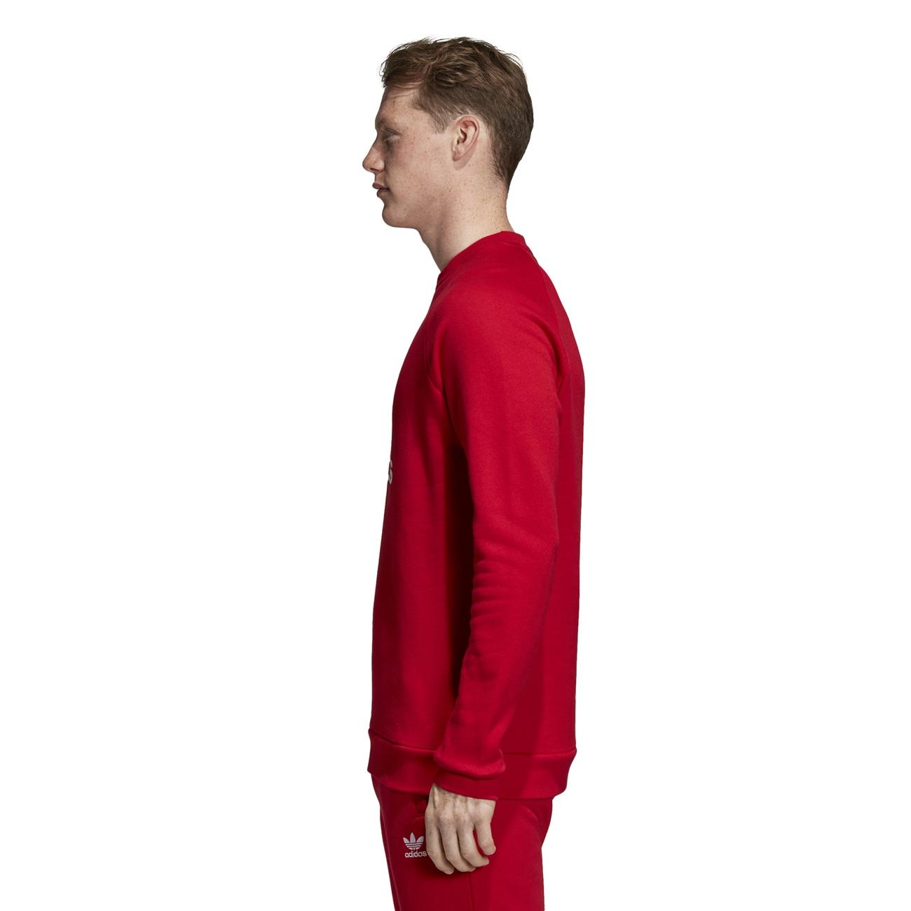 ADIDAS Trefoil Felpe Uomo Power rosso Uomo Pullover Rosso Rosso Rosso Bianco ee0608