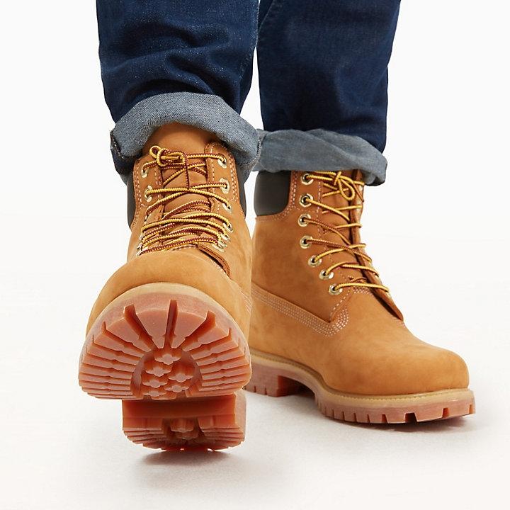 2f78e14671 TIMBERLAND 6 inch Premium Nubuck wheat Leather Boot Damen Herren ...