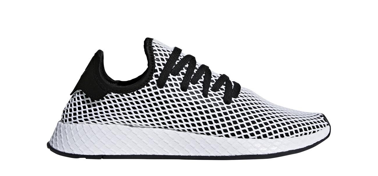 ff33da49e5a4a6 ADIDAS DEERUPT Runner Sneaker core black white schwarz weiss Netz Schuhe  CQ2626 NEU