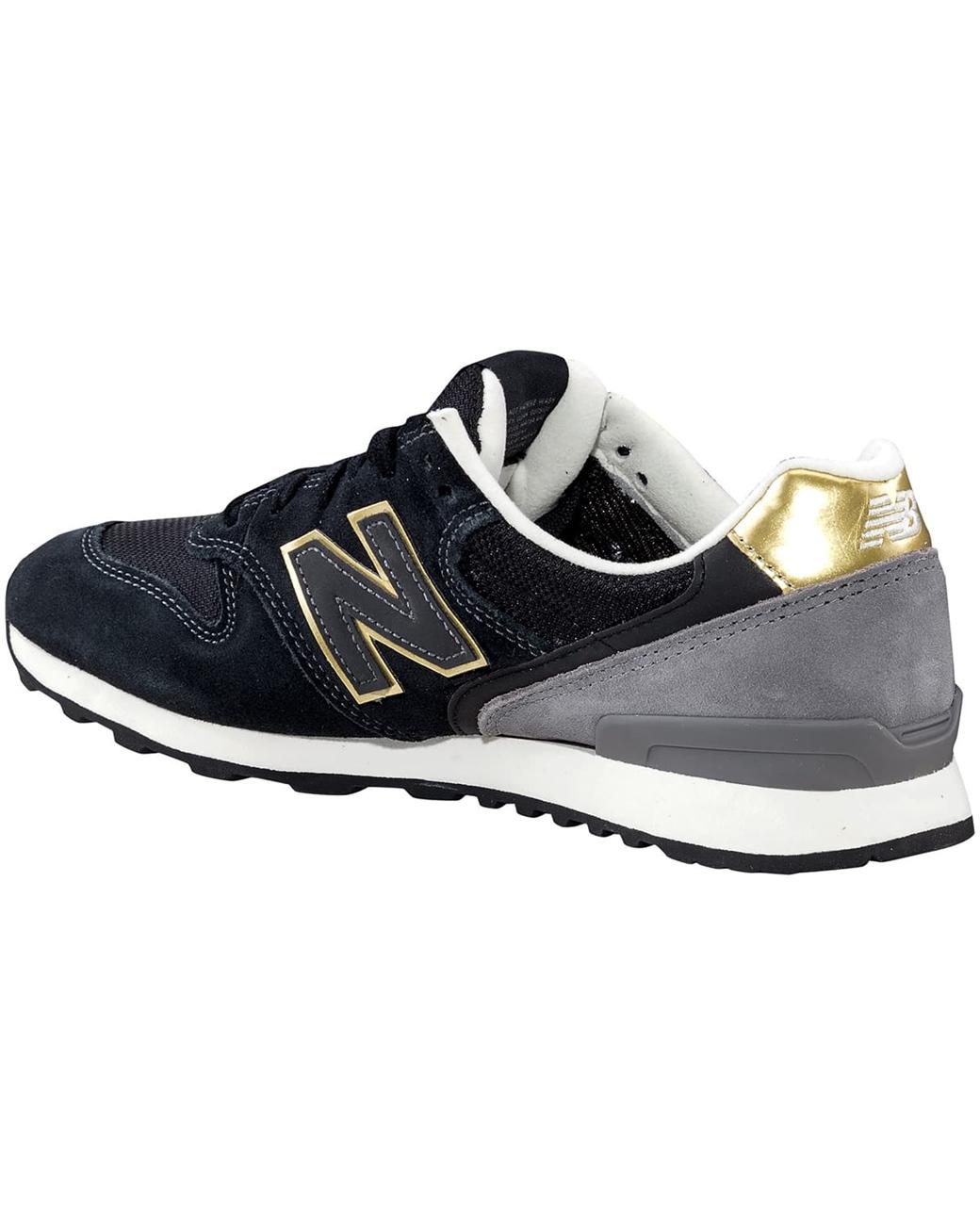 New Balance WR 996 señora Negro Oro Mujer cortos señora 996 marca de zapatillas d02b44
