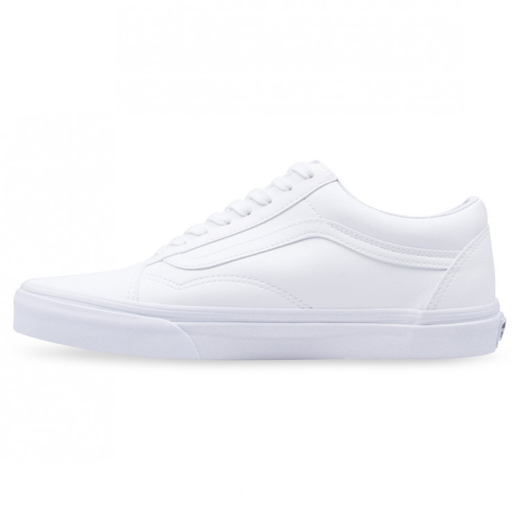 Vans Old Sneaker Skool All White Leather vansbuck Sneaker Old Blanc 854fea